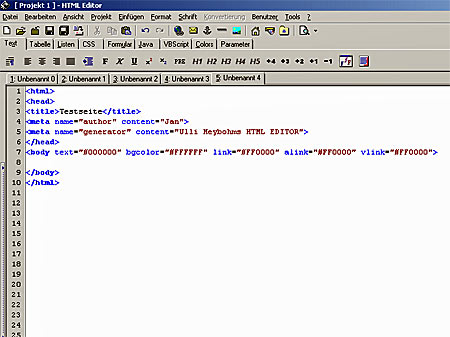html editor phase5