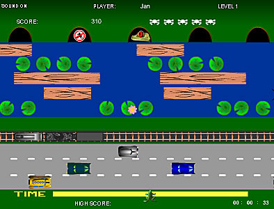 frogger flash game